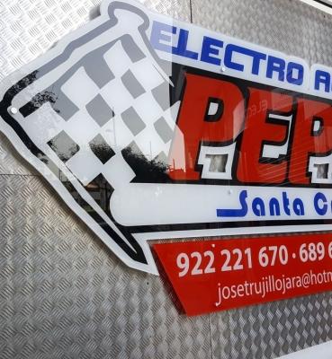 Rótulo Electro Auto Pepe