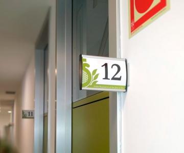 Señalización de consultas Hospital San Juan de Dios