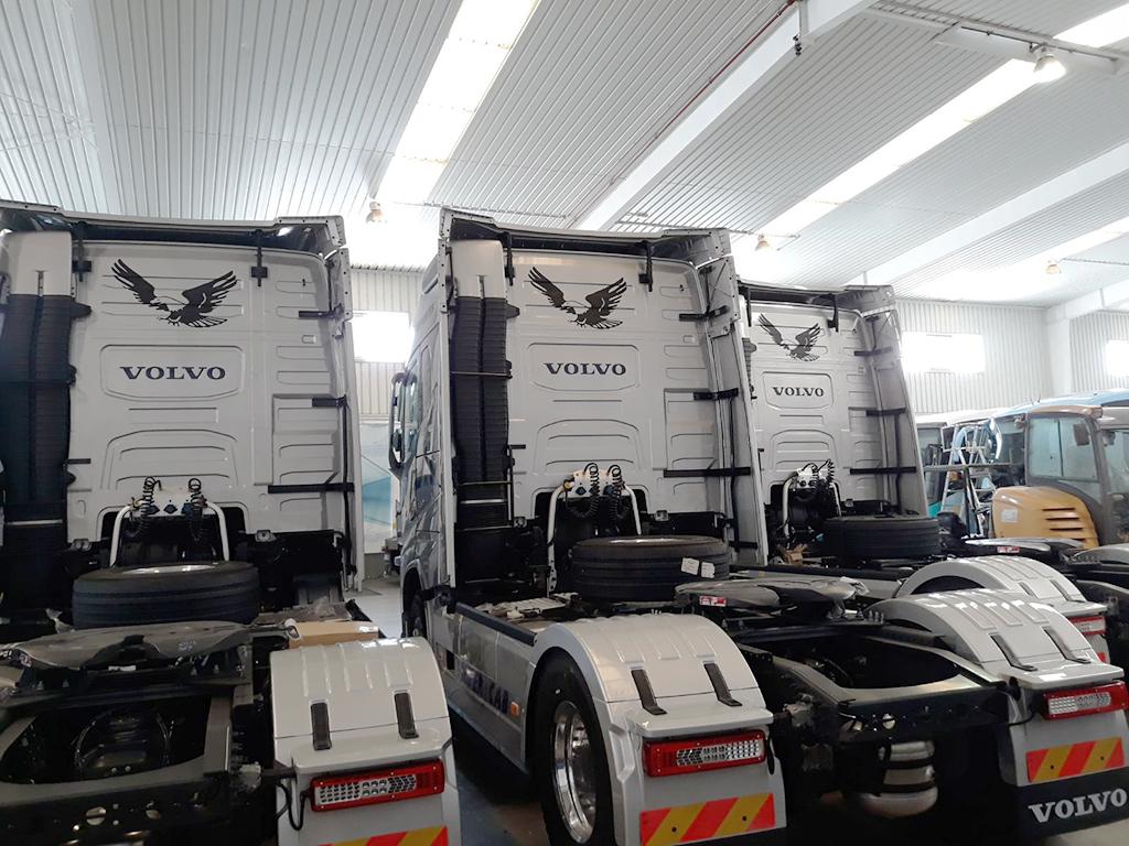 Rotulación de flota Transportes Aguilar Correa